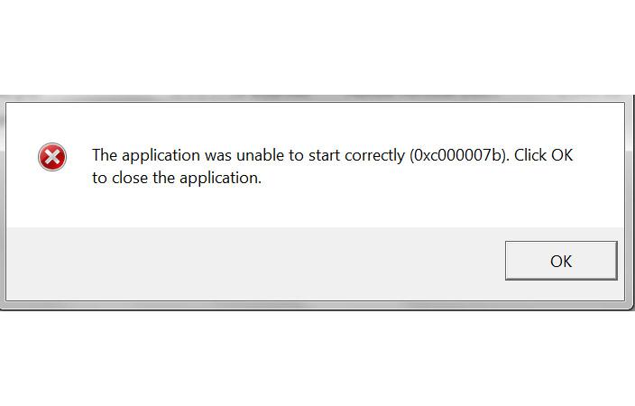 Comment corriger l'erreur 0xc00007b
