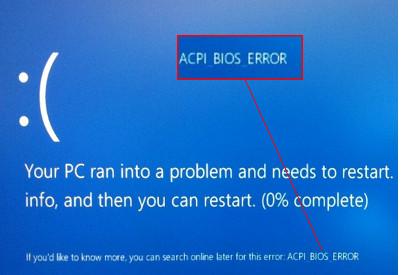 supprimez ACPI_BIOS_ERROR dans Windows 10