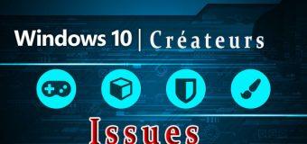 Liste des problèmes de mise à jour des créateurs de Windows 10