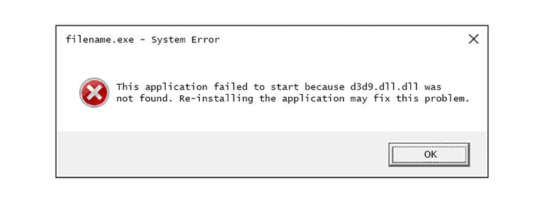 débarrassez-vous de d3d9.dll est une erreur manquante