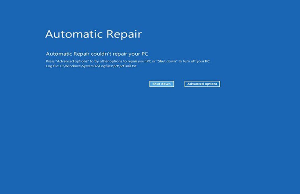la réparation automatique de Windows 10 n'a pas pu réparer votre PC