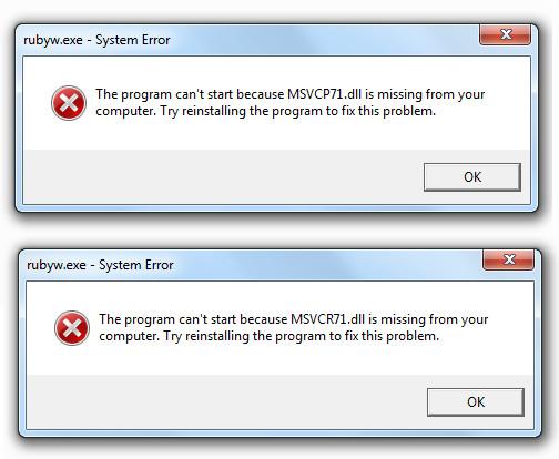 réparation d'erreurs de DLL dans Windows 8.1