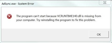 fichier vcruntime140.dll