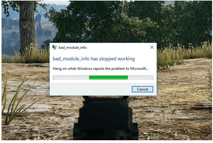 réparer Bad_Module_Info Erreur dans Windows 10