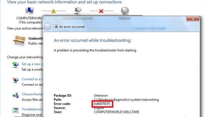 Erreur de mise à jour Windows