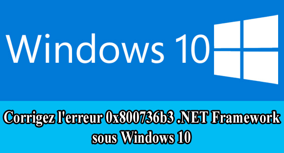supprimer .NET Framework erreur 0x800736b3